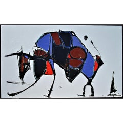 Abstract Painting Titled Toro by Artist Kenneth Joaquin