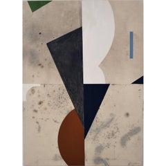 "Abstract Painting Titled ""Totem"" by Brian Hagiwara"
