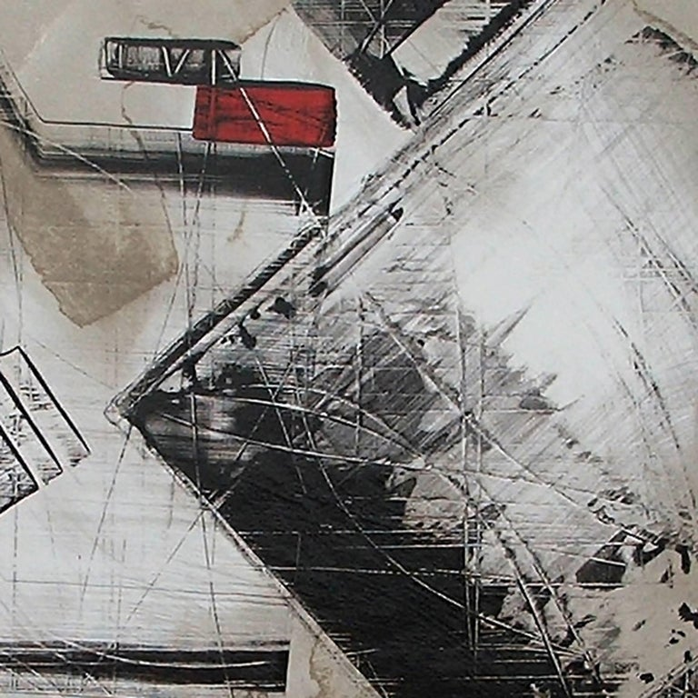 """American Abstract Painting Titled """"Urban Exposure No. 18"""" by Artist Philippe Chambon For Sale"""