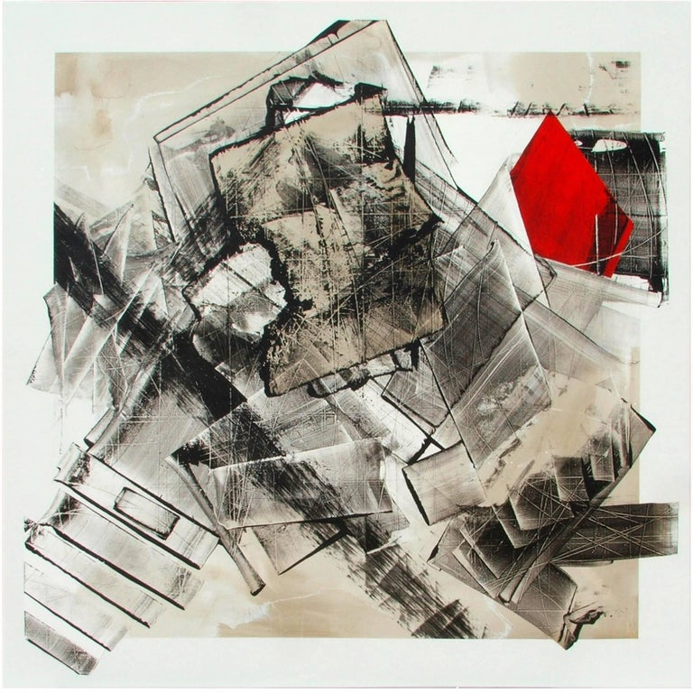 "Abstract Painting Titled ""Urban Exposure No. 22"" by Artist Philippe Chambon For Sale"