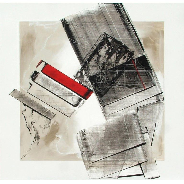 "Abstract Painting Titled ""Urban Exposure No. 23"" by Artist Philippe Chambon"