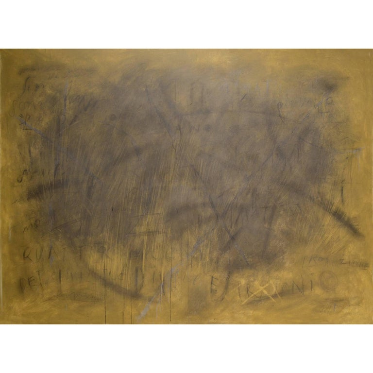 "Abstract Painting Titled ""Yellow Sky"" by Brian Hagiwara"