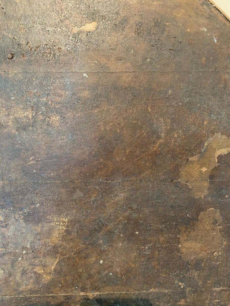 19th Century Abstract Painting Wine Tabletop For Sale