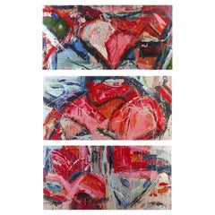 """Abstract Paintings by William Phelps Montgomery """"Flesh Tone"""" #1, #3, #4 Per Item"""