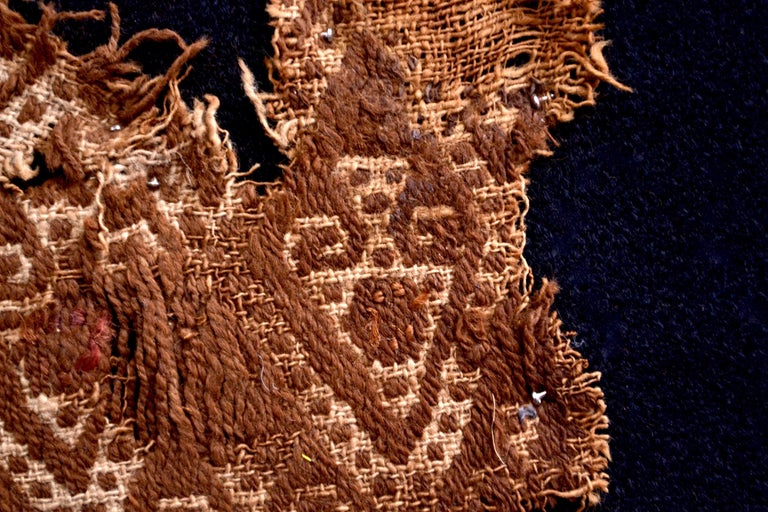 Pre-Columbian Abstract Paracas Precolumbian Textile, Peru, 1100-1400 AD, Ex Ferdinand Anton For Sale