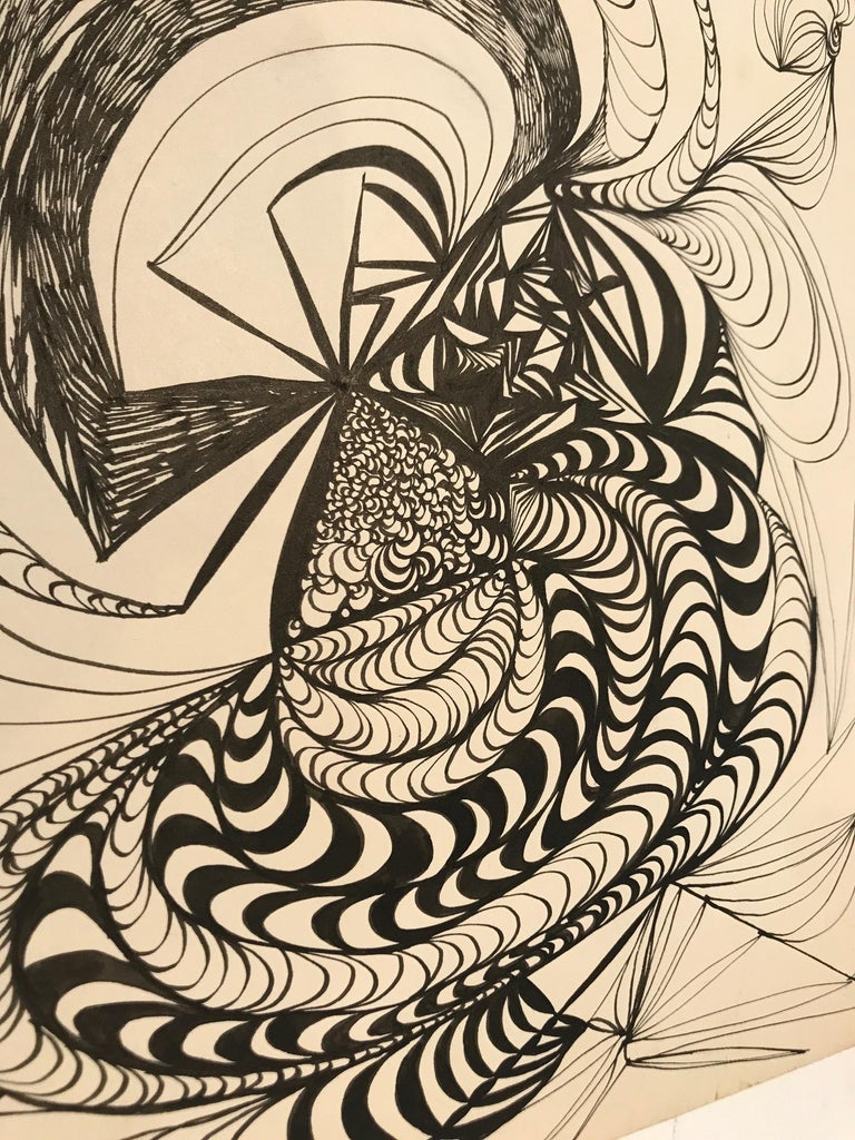 American Abstract Pencil Painting For Sale