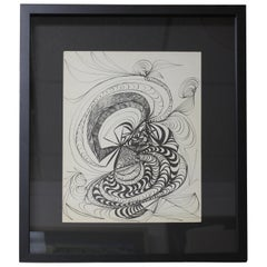 Abstract Pencil Painting