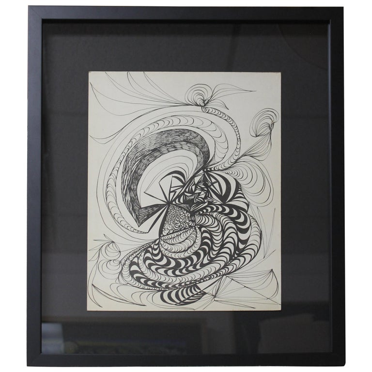 Abstract Pencil Painting For Sale