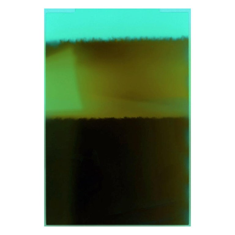Framed pigment prints. Editions of 3 and sold individually. Signature on back. The End of Film is a series of abstract photographs produced in 2015 during an ongoing archive project. With digital taking over most of her work, McBride was determined