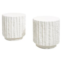Abstract Plaster Side Tables, 1970