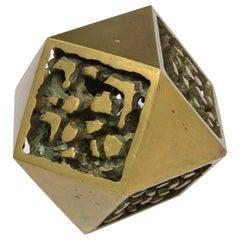Abstrakte polygonale Bronzeskulptur