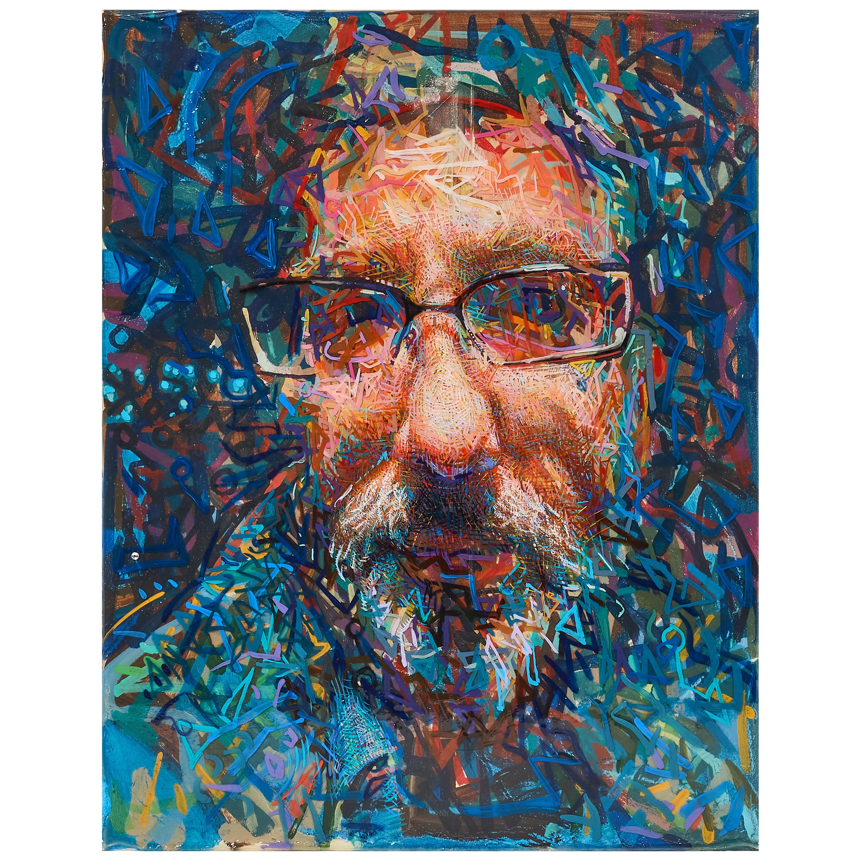 """Abstract Portrait """"Jim"""" by John Hampshire"""