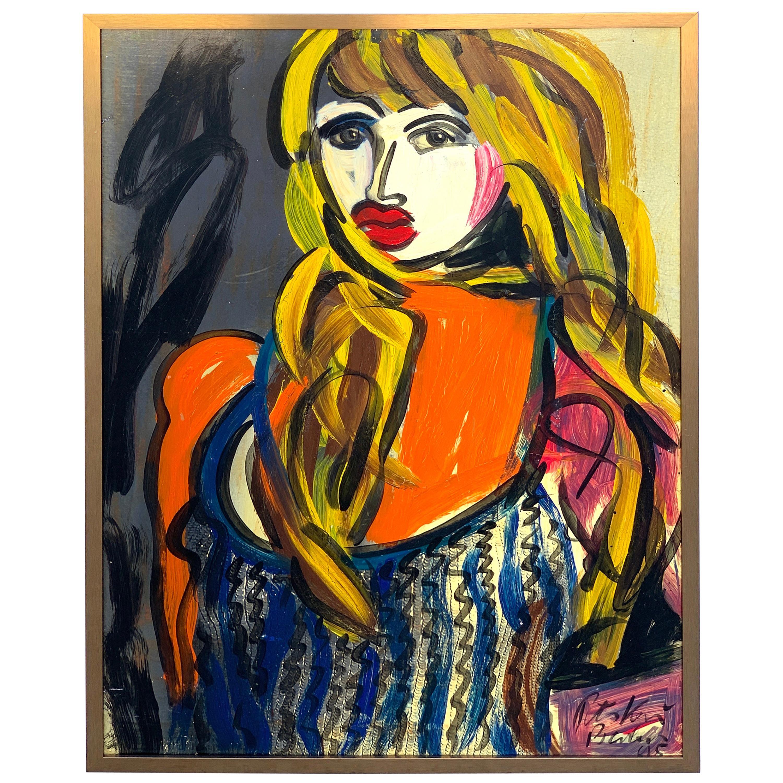 "Abstract Portrait Titled ""Elisabeth Taylor"", Peter Keil, Berlin, 1995"