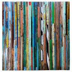 Abstract Reclaimed Wood Wall Sculpture
