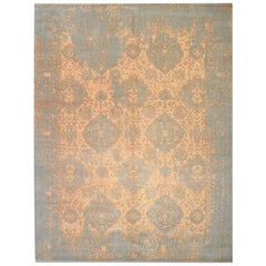 Abstract Rug, Contemporary Design in Silk and Wool. 3,55 x 2,50 m