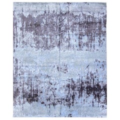 Abstract Rug, Design in Gray Colors