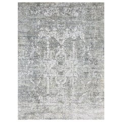 Abstract Rug, Gray Design