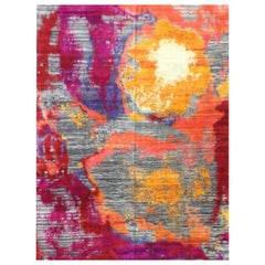 Abstract Rug, Multi-Color Silk. 3,00 x 2,40 m.