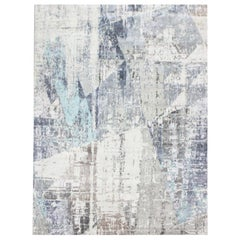 Abstract Rug, Silk and Wool Design