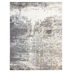 Silk and Wool Abstract Design Rug. 3,65 x 2,75 m.