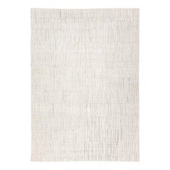Abstract Rug, White and Gray Design
