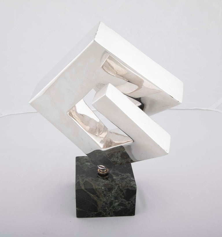 Modern Abstract Sculpture by Lucile Driskell Resembling a Greek Key For Sale