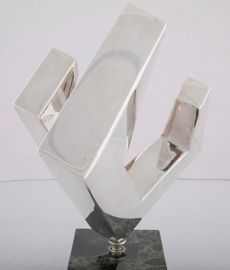 Abstract Sculpture by Lucile Driskell Resembling a Greek Key In Good Condition For Sale In Stamford, CT