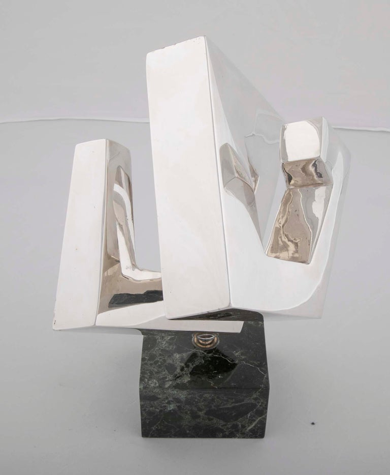 Late 20th Century Abstract Sculpture by Lucile Driskell Resembling a Greek Key For Sale