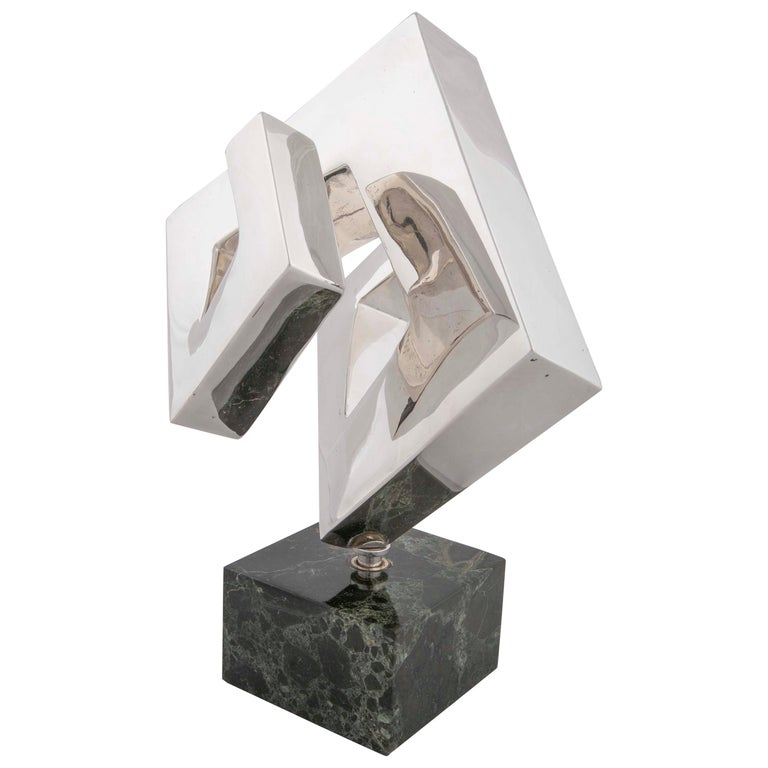 Abstract Sculpture by Lucile Driskell Resembling a Greek Key For Sale