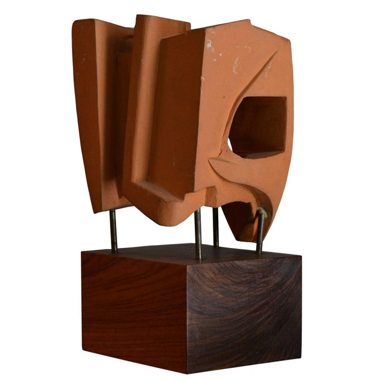 Italian Abstract Sculpture in Terracotta, Italy, 1968 For Sale