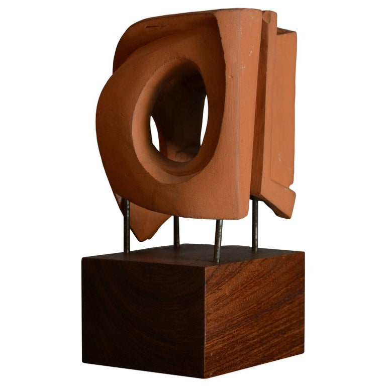 Abstract Sculpture in Terracotta, Italy, 1968 For Sale