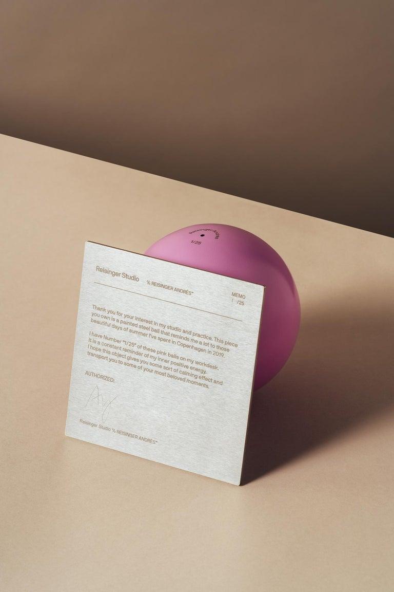 Post-Modern Abstract Sculpture Pink Ball AP #1 by Reisinger Andrés