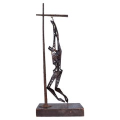 Abstract Sculpture Savior of Auschwitz Tortured Metal 1970s Mexico by EMAUS