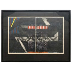Abstract Serigraph by George Nama, New York, 1969
