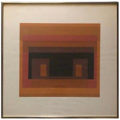 """Abstract Serigraph Entitled """"Variant VIII from Ten Variants"""" by Josef Albers"""
