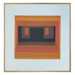 "Abstract Serigraph Entitled ""Variant VIII from Ten Variants"" by Josef Albers"