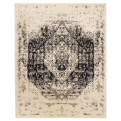 Abstract Silk and Wool Rug. Abstract Design