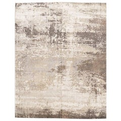 Abstract Silk and Wool Rug, Abstract Design