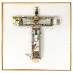 """Abstract """"Stations of The Cross"""" Untitled 3 Vacuum Tube Sculpture by Pasqual"""