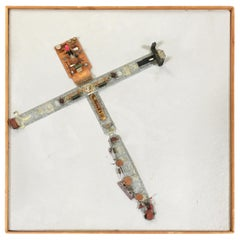 """Abstract """"Stations of The Cross"""" Untitled 4 Artography Wall Sculpture by Pasqual"""