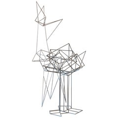 """Abstract Steel Sculptures """"Untitled"""" Set of Two, France, circa 1970"""