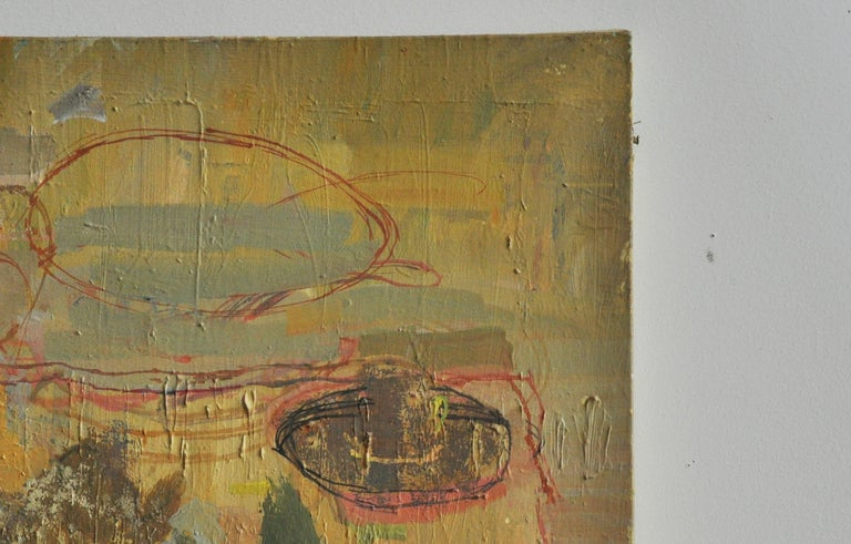American Abstract Still Life, Midcentury Oil on Canvas For Sale