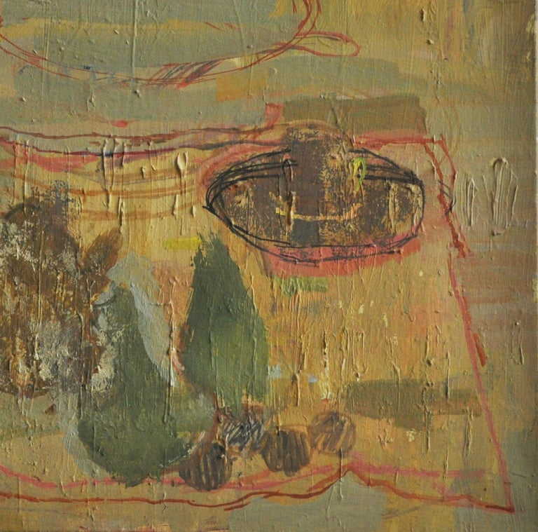 Abstract Still Life, Midcentury Oil on Canvas In Good Condition For Sale In Geneva, IL