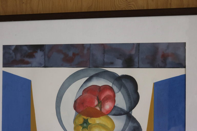 American Abstract Still Life with Peppers by David Segel For Sale