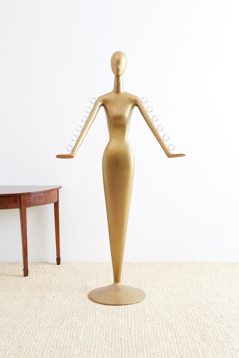 Abstract Tulip Form Female Mannequin Display Sculpture For Sale 2