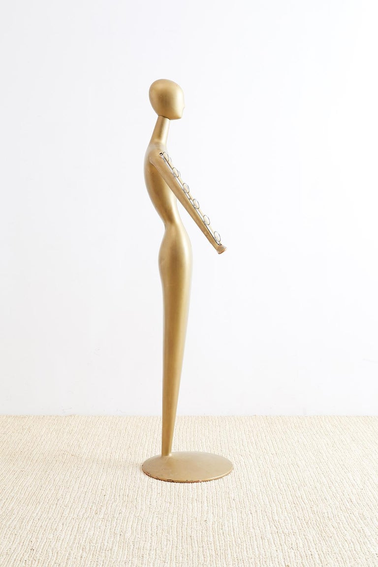 European Abstract Tulip Form Female Mannequin Display Sculpture For Sale