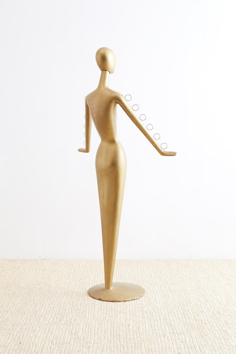 Hand-Crafted Abstract Tulip Form Female Mannequin Display Sculpture For Sale