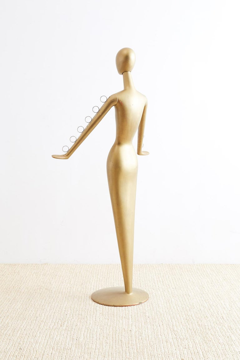 20th Century Abstract Tulip Form Female Mannequin Display Sculpture For Sale