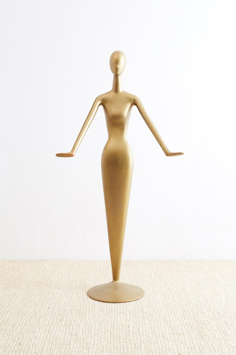 Abstract Tulip Form Female Mannequin Display Sculpture For Sale 1