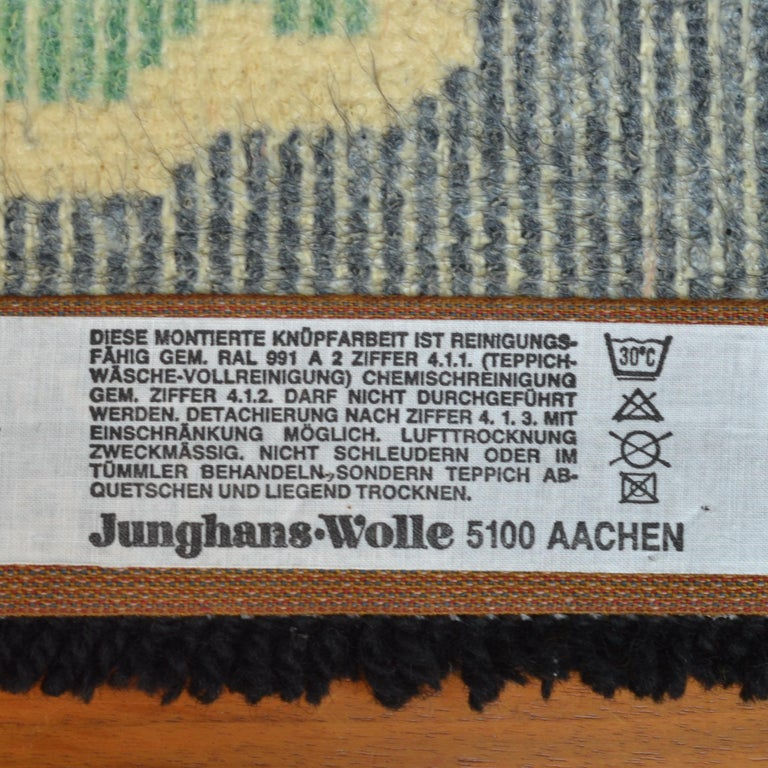 Wool Abstract Vibrant Wall Tapestry by Junghans, 1960's For Sale